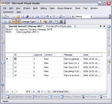 UsingSQLiteProviderWithVS2005 - Cherry City Software